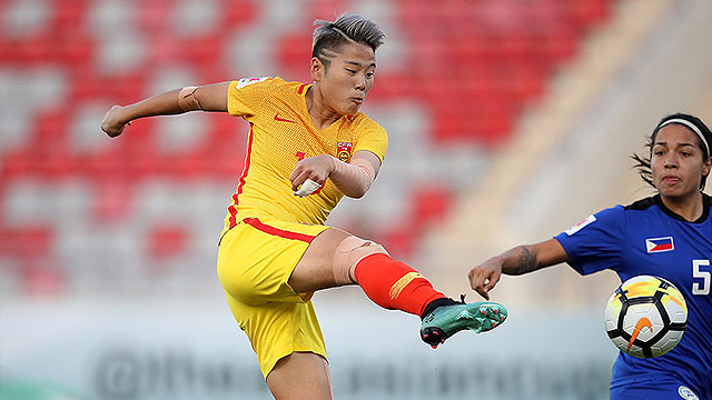 国足的榜样 中国女足3-0大胜菲律宾女足