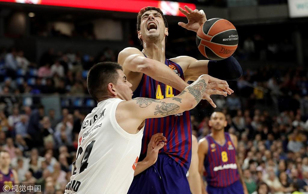 欧洲篮球冠军联赛 巴塞罗那豪取常规赛五连胜