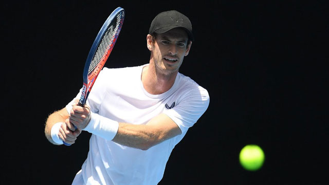 不放弃任何可能 穆雷与迪米澳网合练