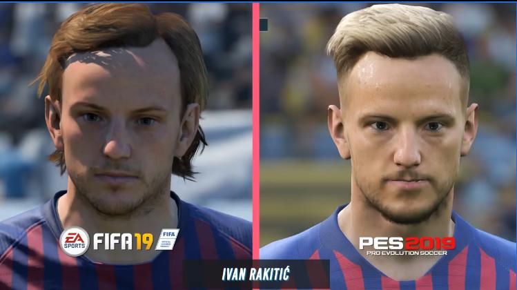 王者对决!FIFA VS 实况足球最新面部对比
